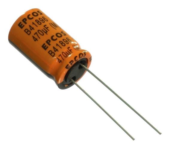 10 * Capacitor Eletrolítico Baixa Esr 470uf 35v 125ºc Epcos