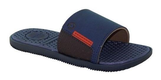 Chinelo Slide Cartago Infantil Barcelon Azul 11369 Grendene