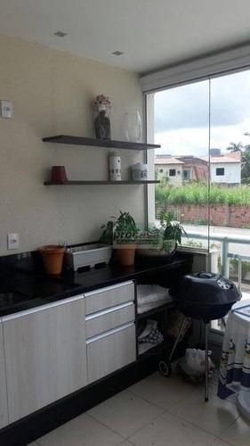 Imagem 1 de 11 de Apartamento Com 3 Dormitórios Sendo 1 Suite À Venda, 85 M² Por R$ 430.000 - Flores - Manaus/am - Ap2833