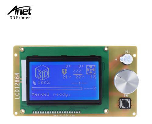 Imagen 1 de 9 de Anet 12864 Lcd Smart Display Controlador De Pantalla Módulo