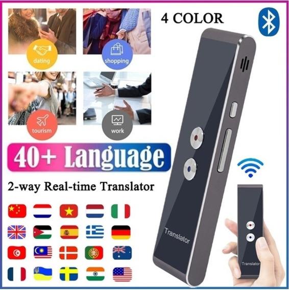 Tradutor De Voz Em Dois Sentidos, Bluetooth 40 Idiomas