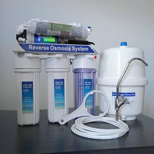 Filtro De Osmosis Inversa 6 Etapas Con Bomba 75 Gpd