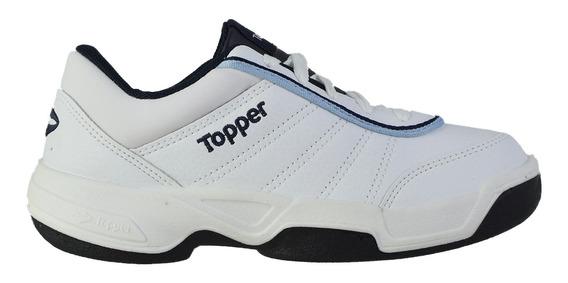 Zapatillas Topper Tie Break Ii Niños Bco-azul