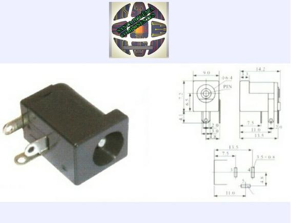 Jack P4 2,5mm Dc-005 J4 / Kit Com 500 Peças