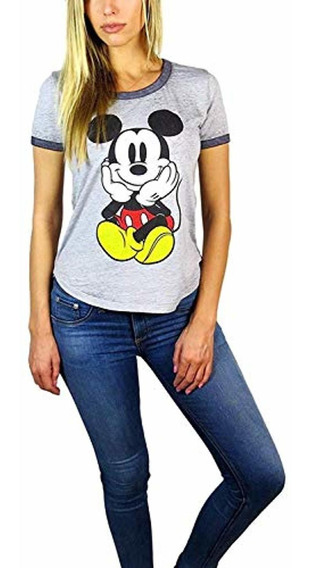 Disney Mujeres Mickey Mouse Burnout Ringer