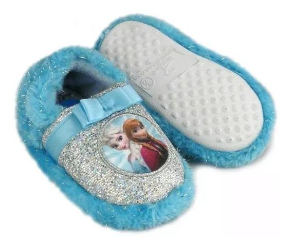 Pantufa Frozen Ricsen Infantil Menina Brilho Azul 7512