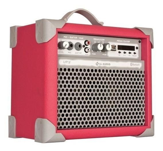 Caixa Amplificadora De Som Multiuso Ll Audio Up!5 Rosa