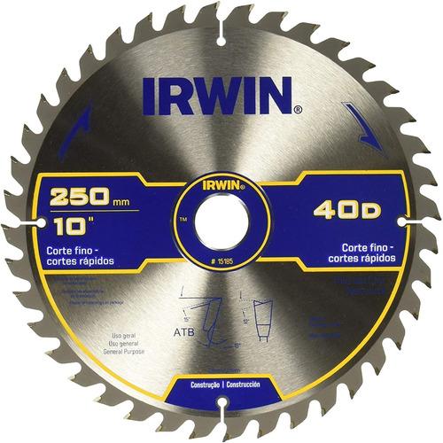 Imagen 1 de 2 de Irwin 15185 Sierra Circular 10 X 40d Disco