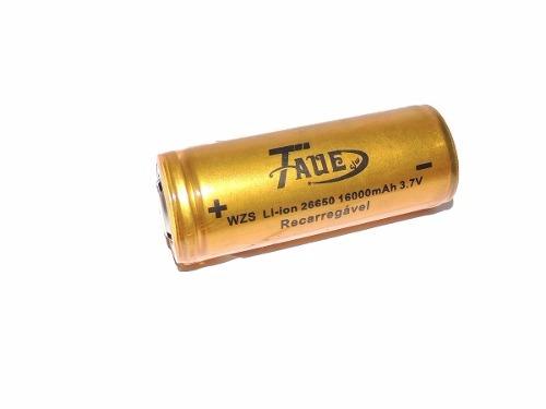 Bateria 26650 3,7v 16000mah Tatica Recarregavel 2017 Novo