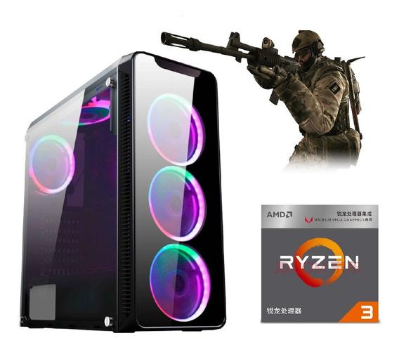 Pc Gamer Ryzen3 2200g Vega Granphis8 2 4gb Ram Ssd120gb+500w