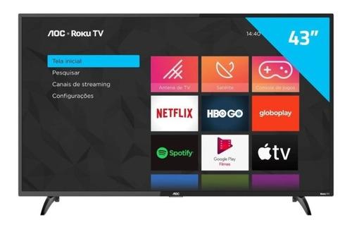 Smart Tv Led Fhd 43 Aoc Roku S5195 Preta Bivolt