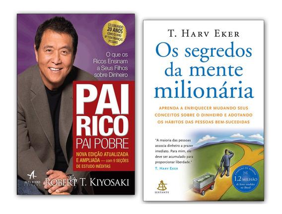 Livros Os Segredos Da Mente Milionária + Pai Rico Pai Pobre