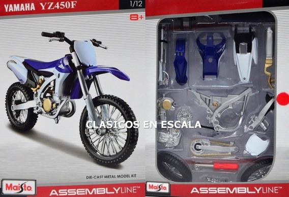 Yamaha Yz450f Pura Sangre - Para Armar - Moto Maisto 1/12