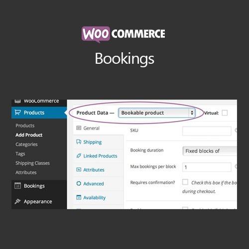 Woocommerce Bookings Wordpress Plugin