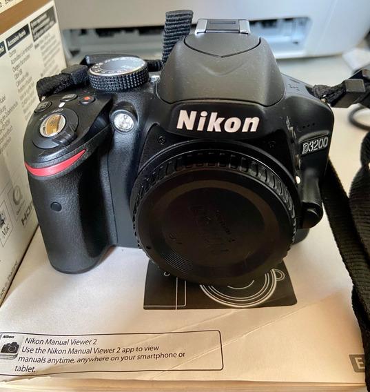 Câmera Nikon D3200 - Corpo + 1 Bateria + Cartão Sd32gb