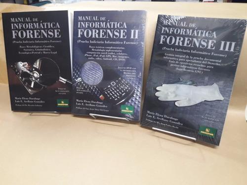Pack Informática Forense 3 Tomos Arrellno - Darahuge Errepar