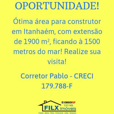 Área Para Construtor Em Itanhaém Com 1900 M2 - 5478/p