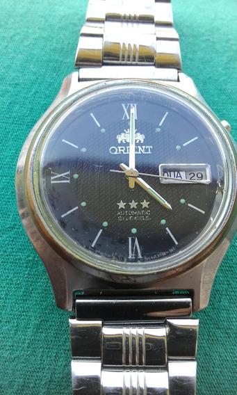 Relógio Orient 3 Estrelas Calendário Duplo Anos 80(57a)