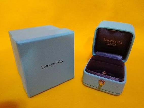 Case Caixa Para Anel Noivado Original Tiffany & Co. Em Couro