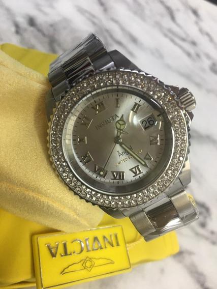 Relógio Invicta Angel Prata Feminino Edição Limitada Top