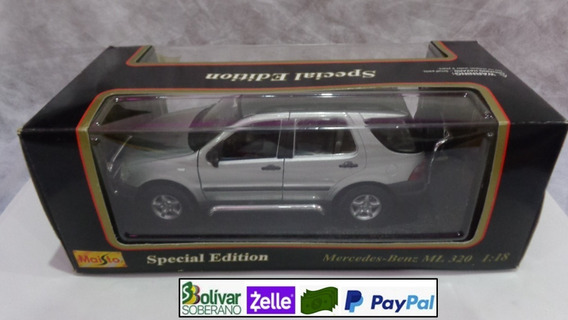 Mercedez Benz Ml 320 - Carro A Escala De Metal 1/18