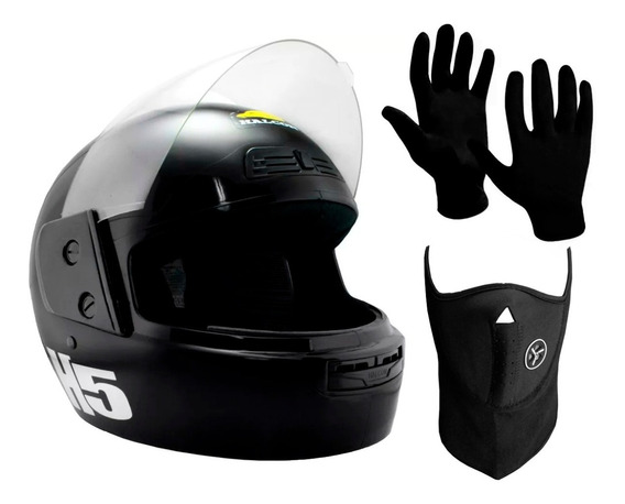 Combo Casco Integral Halcon H5 + Mascara + Guantes Sti Motos
