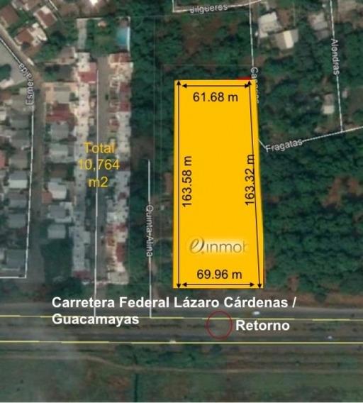 Terreno Enfrente Del Aeropuerto Lázaro Cárden En Carretera Federal Lázaro Cárdenas /guacamayas