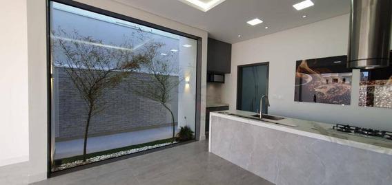 Casa Térrea Nova Com 4 Suítes À Venda, 260 M² Por R$ 1.750.000 - Condomínio Santa Clara - Indaiatuba/sp - Ca10993