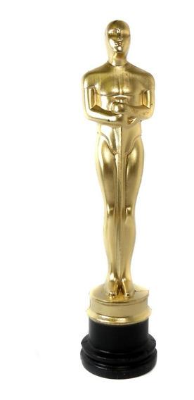 Kit Com 2 Troféus Estatueta Dourada Do Oscar Em Plástico Para Premiação Em Festa Formatura Casamento Bodas