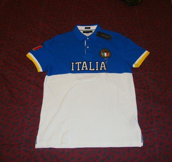 Camisa Tommy Hilfiger Y Italia Edicion Paises 100% Original