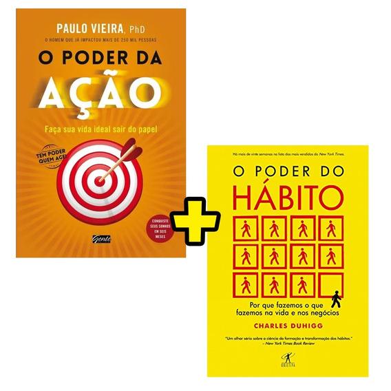 Kit Livro O Poder Do Habito + O Poder Da Ação - Envio Rápido