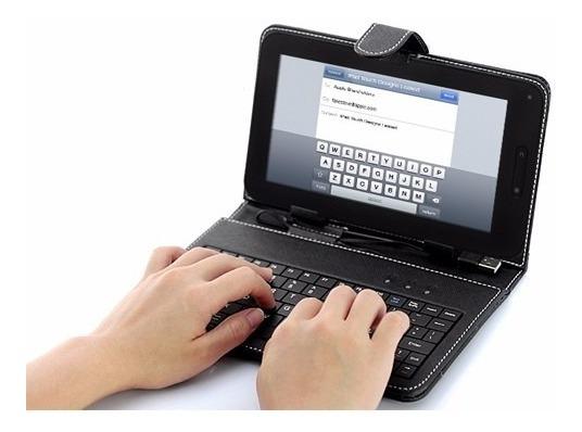 Capa Com Teclado Case Usb Em Português P/ Tablet 7 Polegadas