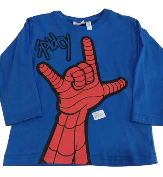 Remera Spiderman Mano Licencia Original!