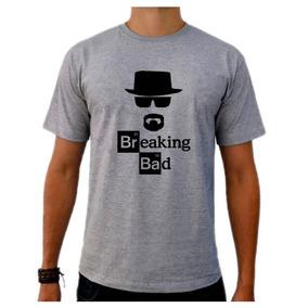 Camiseta Cinza Breaking Bad Heisenberg White Série Tv 03