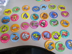 Coleção De Tazos Ping Pong Série Animais - Completo