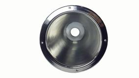 Expansor Corneta De Alumínio Polido Longo D250x Cone Rosca