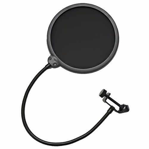 Tela Microfone Anti Puff Pop Filter Profissional Grip