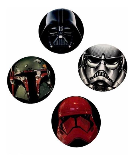 Juego De 4 Portavasos Star Wars