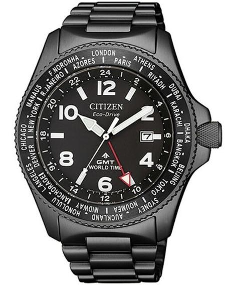 Relógio Citizen Eco-drive Promaster World Time Gmt Bj7107