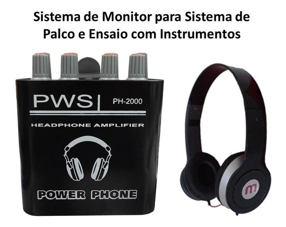 Power Play Ph-2000 Pws Com Fone Brinde + Fonte Anti Ruido
