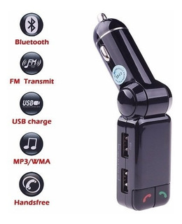 Kit Transmisor Manos Libres Fm Bluetooth Mp3 2 Usb A2dp Mic