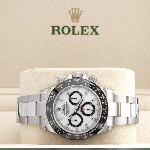 Rolex Cosmograph Daytona Branco Bezel Cerâmica - 116500 Ln