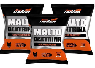 Kit 3x Maltodextrina - 1000g Cada - New Millen