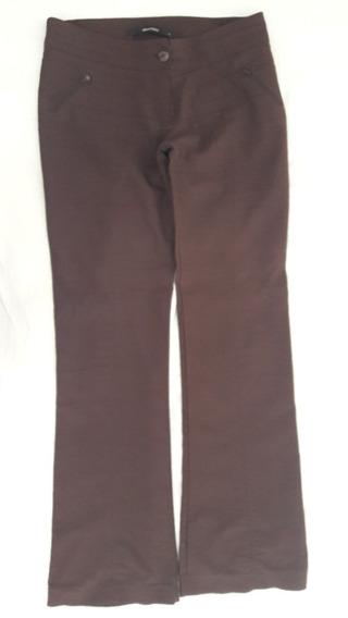 Pantalon Materia Ts Marron Tela Elastizada, Una Divinuraaa!!