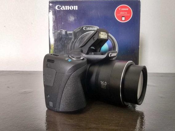 Câmera Digital Canon Power Shot Sx400is Cartão Sd 8g