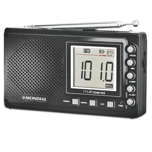 Rádio Am/fm Com Relógio Bivolt - Rp-03