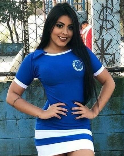 Vestido Curto Adulta Casual Feminina Torcedora Times Do Futebol Brasileiro Roupa Top Promoção