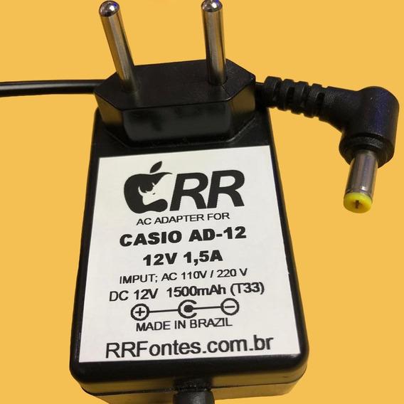 Fonte 12v Pra Ad-12 Casio Wk1800 Wk3000 Wk3100 Wk3200 Wk3300