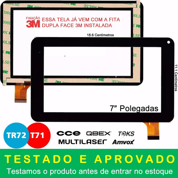 Tela Touch Tablet Cce Tr72 Tr72p Kids Motion Original + 3m