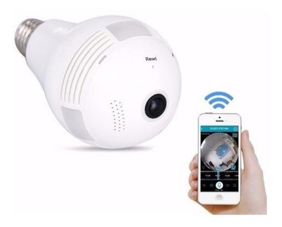 Lâmpada Com Câmera Ip Wifi Panorâmica 360ºgraus
